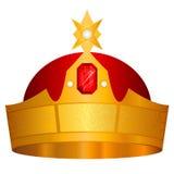 korony złoto operla czerwonych rubiny Fotografia Stock