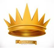 korony złoto operla czerwonych rubiny król przygotowywa ikonę ilustracja wektor