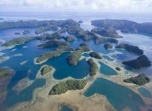 Koror ö i Palau Skärgård del av den Mikronesien regionen arkivbild
