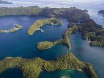 Koror ö i Palau Skärgård del av den Mikronesien regionen royaltyfri foto
