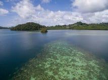 Koror ö i Palau Skärgård del av den Mikronesien regionen royaltyfri fotografi