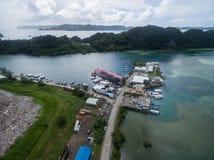 KOROR, ПАЛАУ - 3-ЬЕ ДЕКАБРЯ 2016: Городок Koror в острове Палау стоковые фотографии rf