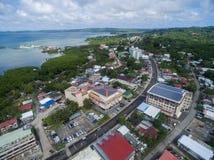 KOROR, ПАЛАУ - 3-ЬЕ ДЕКАБРЯ 2016: Городок Koror в острове Палау стоковые изображения rf
