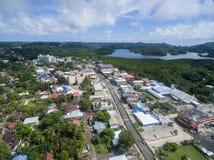KOROR, ПАЛАУ - 3-ЬЕ ДЕКАБРЯ 2016: Городок Koror в острове Палау стоковое фото rf