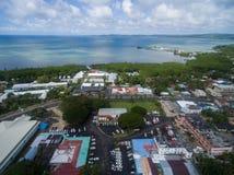 KOROR, ПАЛАУ - 3-ЬЕ ДЕКАБРЯ 2016: Городок Koror в острове Палау стоковые изображения
