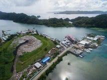 KOROR, ПАЛАУ - 3-ЬЕ ДЕКАБРЯ 2016: Городок Koror в острове Палау стоковые фото