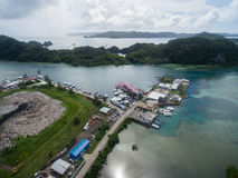 KOROR, ПАЛАУ - 3-ЬЕ ДЕКАБРЯ 2016: Городок Koror в острове Палау стоковая фотография rf