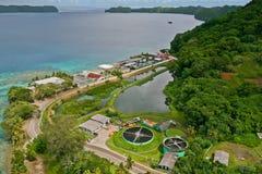 Koror bird eye view. Republic of Palau Stock Images
