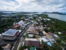KOROR PALAU - DECEMBER 03, 2016: Koror stad i den palauiska ön royaltyfria bilder