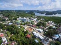 KOROR PALAU - DECEMBER 03, 2016: Koror stad i den palauiska ön arkivfoton
