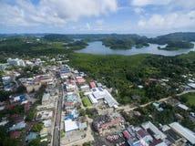 Koror stad i den palauiska ön arkivbilder