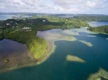 Kororeiland in Palau Archipel, een deel van het Gebied van Micronesië stock fotografie
