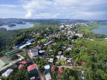 Kororstad in Palau Eiland stock foto's