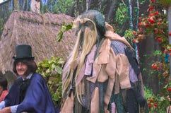 Korosten, Ucraina - 6 settembre 2016: scrittore Nikolai Gogol degli attori e bestia durante la patata giusta in Korosten, Ucraina Fotografie Stock