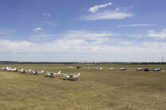 Korotich Airshow Airfield. Korotich Airfield Overview. IAR IAR-316B Alouette III Royalty Free Stock Photos