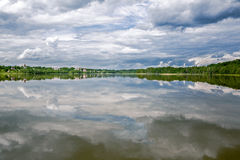 Korotskoe Lake. Sky and water. Summer landscape in Russia Royalty Free Stock Image