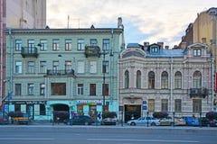 Korovins-` Häuser auf Ligovsky-Allee in St Petersburg, Russland Lizenzfreie Stockfotografie