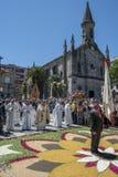 Korowód Corpus Christi Ponteareas Zdjęcie Stock