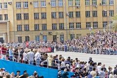Korowód ludzie w Nieśmiertelnym pułku na rocznym zwycięstwie Zdjęcie Stock