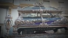 Korowód przez ulic Cadiz, ` Santo Entierro ` zdjęcie wideo