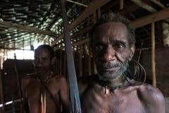 Korowai Kombai ( Kolufo) warrior Royalty Free Stock Images
