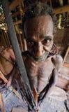 Korowai Kombai ( Kolufo) warrior. Royalty Free Stock Images