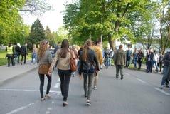 Korowod 2014 - student s holiday Stock Photography
