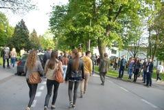 Korowod 2014 - student s holiday Stock Image