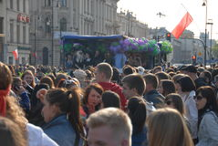 Korowod 2014 - student s holiday. This is korowod 2014 - student s holiday. Korowod takes place every year in May in every city or town in Poland, where there is Stock Photography