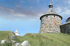 Korozhnaya tower of the Solovetsky monastery Stock Photography