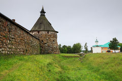 Korozhnaya tower of Solovetsky monastery Stock Images