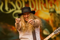 Korpiklaani. On Masters of Rock 2012 Stock Image