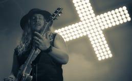 Korpillaani vive en banda de heavy metal de la gente del concierto 2016 Foto de archivo libre de regalías