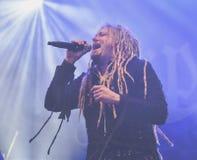 Korpillaani vive en banda de heavy metal de la gente del concierto 2016 Fotografía de archivo