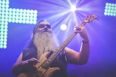 Korpillaani vive en banda de heavy metal de la gente del concierto 2016 Imágenes de archivo libres de regalías