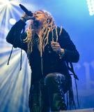Korpillaani vive en banda de heavy metal de la gente del concierto 2016 Imagenes de archivo