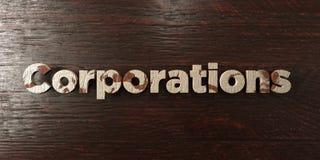 Korporacje - grungy drewniany nagłówek na klonie - 3D odpłacający się królewskość bezpłatny akcyjny wizerunek ilustracji