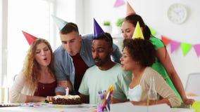 Korporacyjna drużynowa odświętność jeden rok rocznica zdjęcie wideo