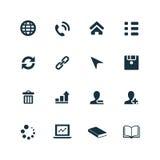 Korporacyjne ikony ustawiać Fotografia Stock
