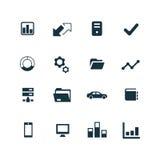 Korporacyjne ikony ustawiać Obrazy Stock