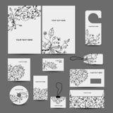 Korporacyjnego biznesu stylu projekt: falcówka, etykietki, Zdjęcie Royalty Free