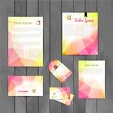 Korporacyjnego gatunku tożsamości projekta szablonu Biznesowy układ List, Letterhead, falcówka, karta Wektorowy firma trójbok Fotografia Royalty Free