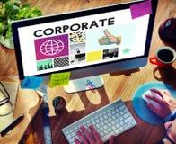 Korporacyjnego Organizacja Gospodarcza Firma pojęcie zdjęcie stock