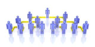 Korporacyjnej hierarchii sieci 3d biznesowi ludzie Fotografia Royalty Free