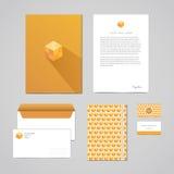 Korporacyjnej tożsamości projekta szablon Dokumentacja dla biznesu falcówka, letterhead, koperta, notatnik i wizytówka (,) Geomet Obrazy Royalty Free