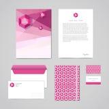 Korporacyjnej tożsamości projekta szablon Dokumentacja dla biznesu falcówka, letterhead, koperta, notatnik i wizytówka (,) Geomet Obraz Royalty Free