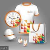 Korporacyjnej tożsamości szablon i promocyjni prezenty Obraz Stock
