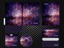 Korporacyjnej tożsamości szablonu projekta purpury barwią biznesu ustalonego materiały royalty ilustracja