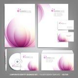 Korporacyjnej tożsamości szablon dla biznesowych grafika Zdjęcie Royalty Free