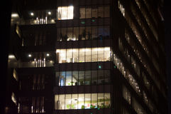 Korporacyjni biura nocą Obraz Stock